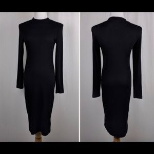 H&M black ribbed dress